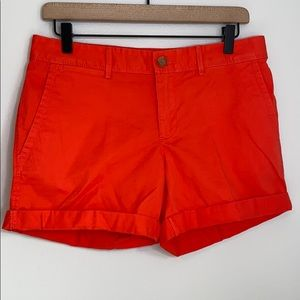 Banana Republic orange cuffed shorts - 4